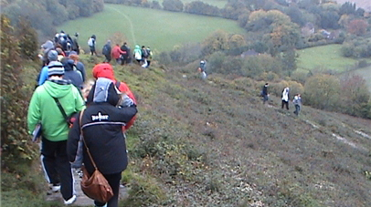 Students on Wye Downs