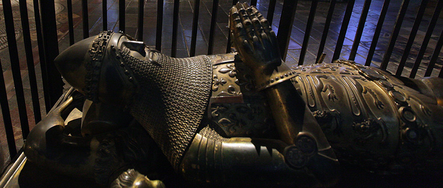 The tomb of the Black Prince in Canterbury Cathedral. Main image for Medieval Canterbury Weekend 2020